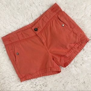 Hei Hei Anthropologie Linen Blend Coral Shorts 8